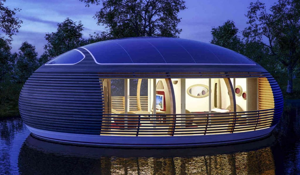 Waternest 100 the eco friendly floating home ireviews news for Eco friendly water systems for homes