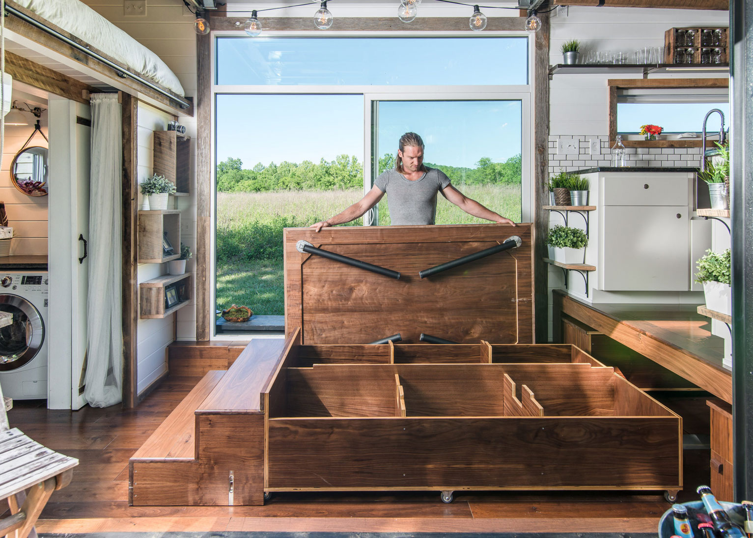 The alpha tiny home review ireviews for Tiny house with main floor bedroom
